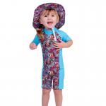 Girls UV zip up suit